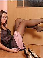 Jana in black stockings