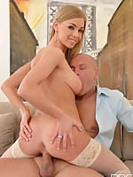 Lolly Gartner Blonde Babe Comforts Hung Cop With Eager Shaved Pussy