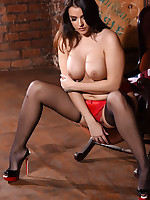 JESSIKA IN RED LINGERIE AND BLACK STOCKINGS - jessikajinx.com