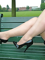 A bit of outdoor high heel fun with one of our gorgeous models.